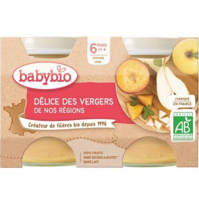 BABYBIO Příkrm ovocná směs 2 x 130 g