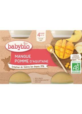 BABYBIO Příkrm jablko mango 2 x 130 g