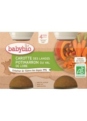 BABYBIO Příkrm mrkev dýně (2x 130 g)