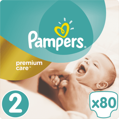 PAMPERS Premium Care 2 MINI 80ks (3-6kg) VALUE Pack - jednorazové plienky