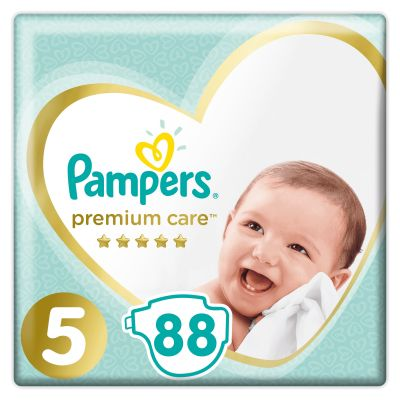 PAMPERS Premium Care 5 Junior 88 ks (11-16 kg) MEGA BOX – jednorázové pleny