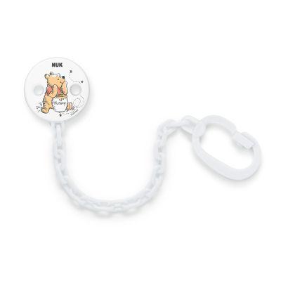 NUK Řetízek na dudlík Disney Medvídek Pú - bílý