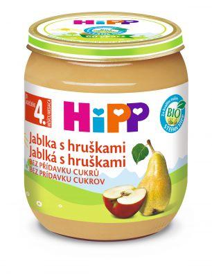 6x HIPP BIO Jablka s hruškami (125 g) - ovocný příkrm