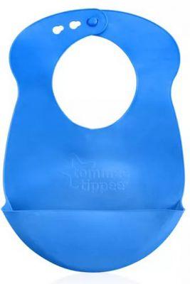TOMMEE TIPPEE Plastový bryndáček rolovací Explora, modrý