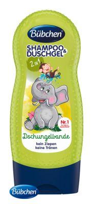 BÜBCHEN Kids šampon a sprchový gel 2v1 Partička z džungle 230 ml
