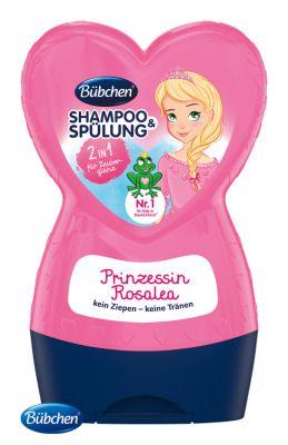 BÜBCHEN Kids šampon s kondicionérem 2v1 Princezna Rosalea 230 ml