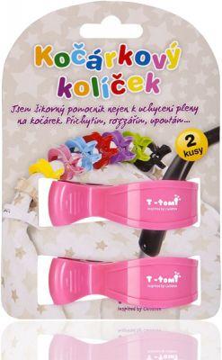 T-TOMI Kočárkový kolíček, 2 ks, růžový
