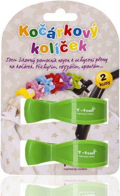 T-TOMI Kočárkový kolíček 2 ks, zelený
