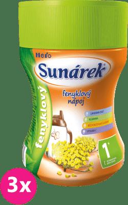 3x SUNÁREK Feniklový rozpustný nápoj (200 g)