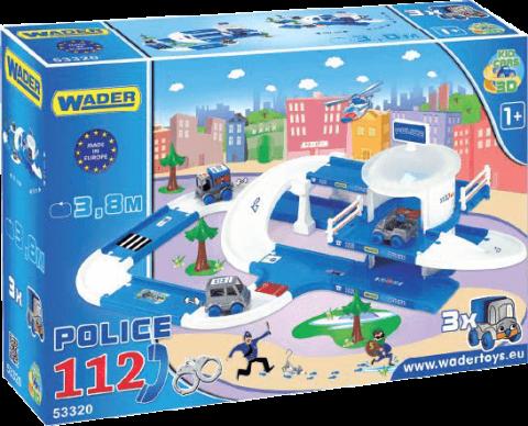 WADER Kid Cars 3D Polícia plast 3,8 m v krabici 1+ rok