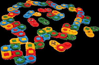 WADER Kostky stavebnice Domino 64 ks