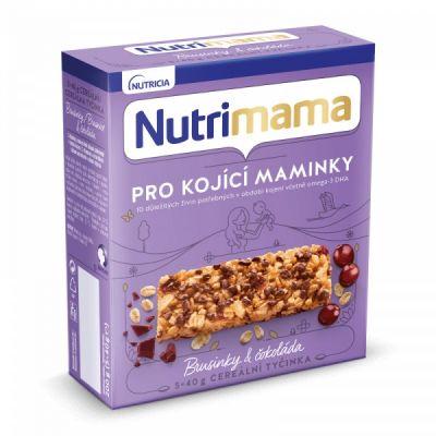 2x NUTRILON NUTRIMAMA ProFutura cereální tyčinky Brusinky a Čokoláda (5x40g)