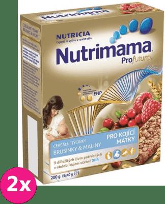 2x NUTRILON NUTRIMAMA ProFutura cereálne tyčinky Brusnice a Maliny (5x40g)