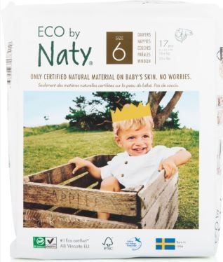 NATY NATURE BABYCARE 6 JUNIOR, 17 szt. (16+ kg) - pieluchy jednorazowe