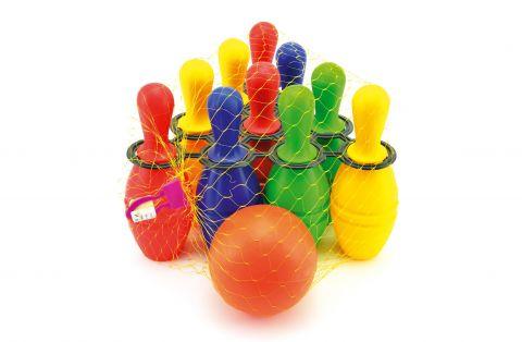 TEDDIES Bowlingové kuželky plastové 10 ks