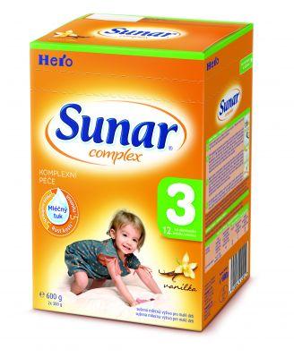 SUNAR Complex 3 VANILKA (600 g) - kojenecké mléko