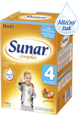 SUNAR Complex 4 JAHODA (600 g) - kojenecké mléko