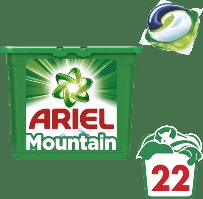 ARIEL Mountain Spring 3v1 (28ks) – gélové pracie kapsuly