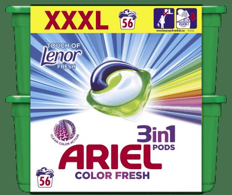 ARIEL Touch of Lenor Fresh All in 1 Gelové Kapsle - 56 ks