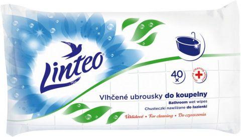 LINTEO Satin do kúpeľne 40 ks, 1 vrstvové - vlhčené obrúsky