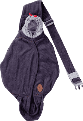 LODGER Nosítko Shelter Fleece - Reluxury Anthracite