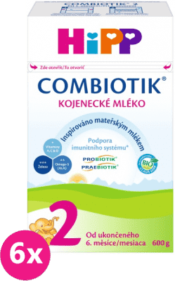 6x HIPP 2 BIO Combiotik (600 g) - kojenecké mléko