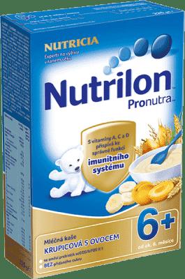 NUTRILON ProNutra krupicová s ovocem (225 g) - mléčná kaše