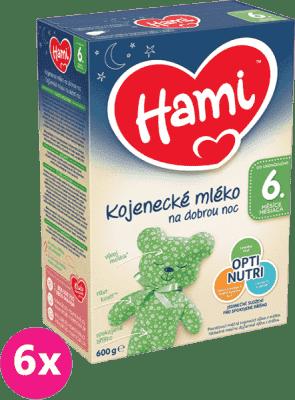 6x HAMI 6+ Na dobrú noc (600 g) - dojčenské mlieko