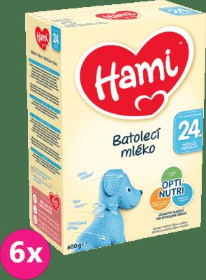 6x HAMI 24+ (600 g) - dojčenské mlieko