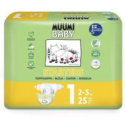 MUUMI Baby Newborn 25 ks (2-5 kg) – jednorázové pleny