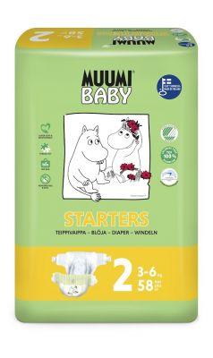 MUUMI Baby Mini 58 ks (3-6 kg) – jednorázové pleny