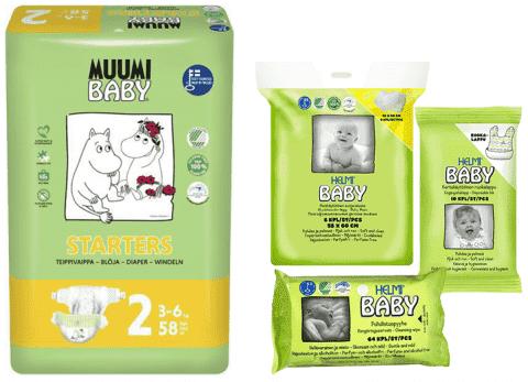 MUUMI Startovací balíček Baby Mini 58 ks (3-6 kg)