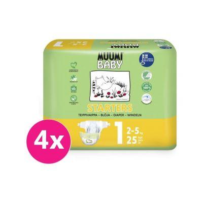 MUUMI Baby Newborn 100 ks (2-5 kg) MĚSÍČNÍ BALENÍ – jednorázové pleny