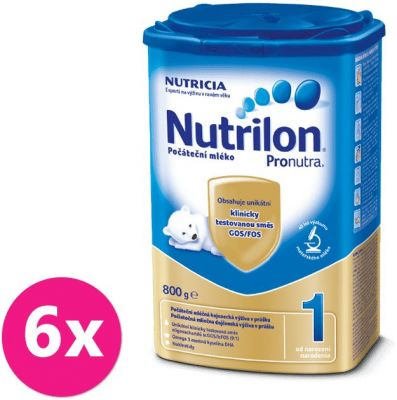 6x NUTRILON 1 ProNutra (800 g) - dojčenské mlieko