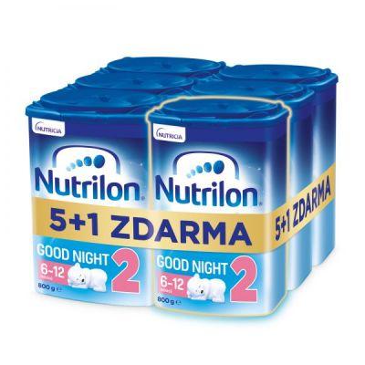 6x NUTRILON 2 Good Night pokračovací kojenecké mléko 800 g, 6+