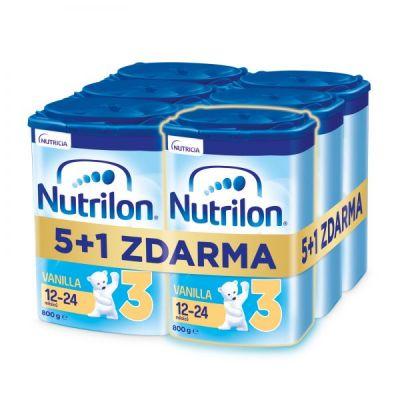 6x NUTRILON 3 Vanilla batolecí mléko 800 g, 12+