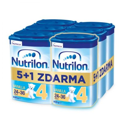 6x NUTRILON 4 Vanilla batolecí mléko 800 g, 24+