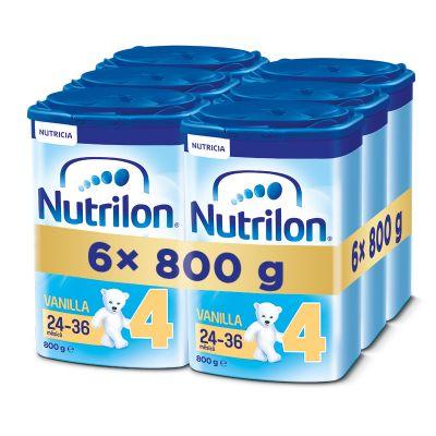 6x NUTRILON 4 ProNutra s příchutí vanilky (800g) - kojenecké mléko