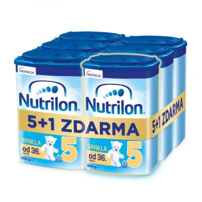 6x NUTRILON 5 Vanilla dětské mléko 800 g, 36+