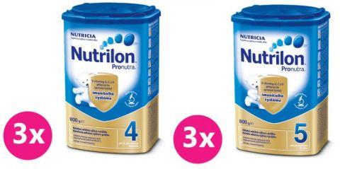 3x NUTRILON 4 ProNutra (800g) + 3x NUTRILON 5 ProNutra (800g) - dojčenské mlieko