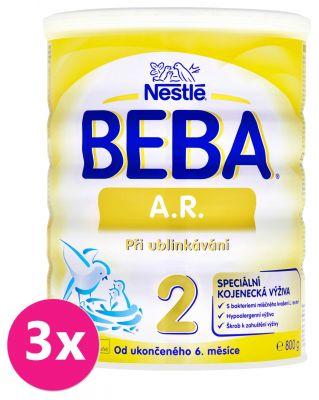 3x BEBA A.R. 2 (800 g) - kojenecké mléko