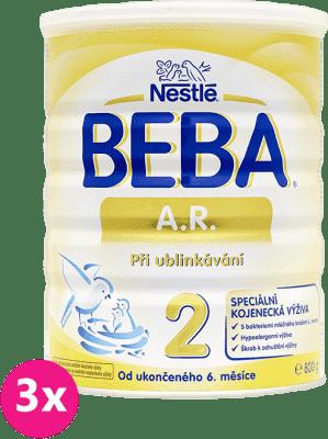 3x NESTLÉ BEBA AR 2 proti grckaniu (800 g) - dojčenské mlieko