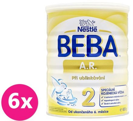 6x NESTLÉ BEBA AR 2 proti grckaniu (800 g) - dojčenské mlieko