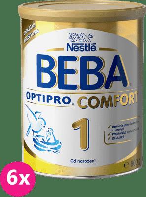6x NESTLÉ BEBA OPTIPRO Comfort 1 (800 g) - dojčenské mlieko