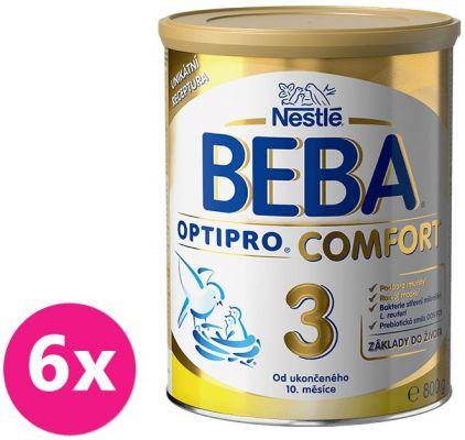 6x NESTLÉ BEBA OPTIPRO Comfort 3 (800 g) - dojčenské mlieko