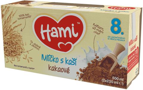 HAMI Kakaové mlíčko s kaší (2x250 ml)
