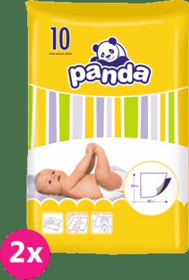 2x BELLA PANDA - detské prebaľovacie podložky 10ks