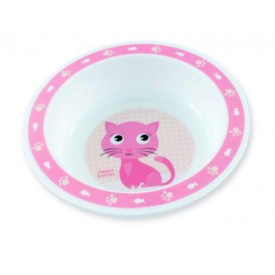 CANPOL BABIES Plastová miska CUTE ANIMALS - kočička (270 ml)