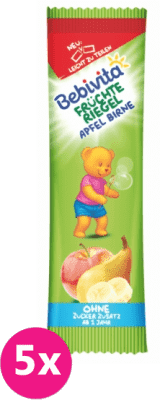 5x BEBIVITA Ovocná tyčinka jablko a hruška (25 g)