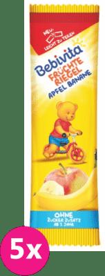 5x BEBIVITA Ovocná tyčinka jablka a banán (25 g)